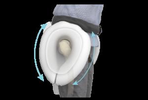système ceinture airbag en forme de fer à cheval pour éviter les fractures des hanches