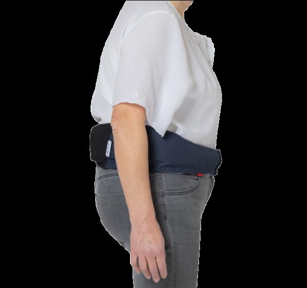 la ceinture airbag qui protège les hanches avant gonflage